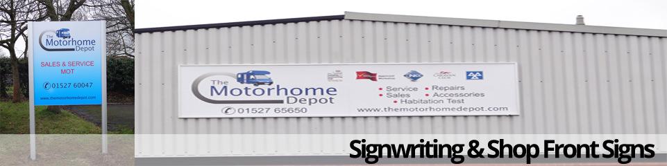 Signwriting & Shop Front Signs
